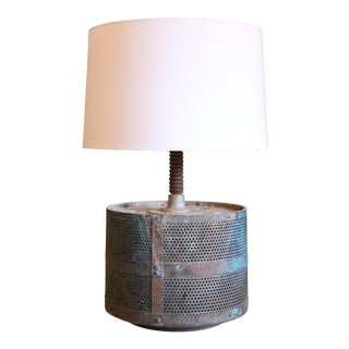 FRENCH INDUSTRIAL METAL TABLE LAMP