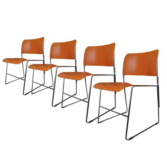 Orange David Rowland 40/4 Chairs - 4 - Image 1 of 7