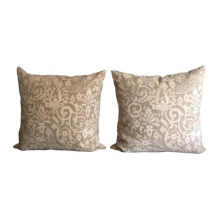 Vintage Damask Pillows - A Pair