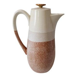 Mid-Century Modern Stoneware Coffee Pot