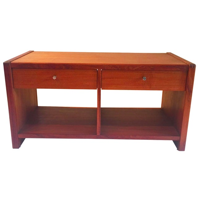 Mid-Century 2 Drawer Cabinet - Image 1 of 5