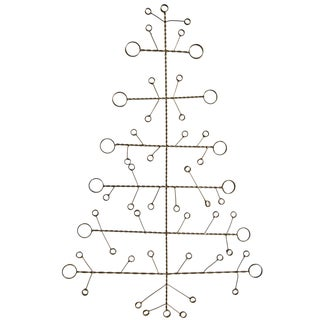 Recycled Wire Holiday Tree Card Holder