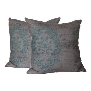 Turkish Rug Print Pillows - A Pair