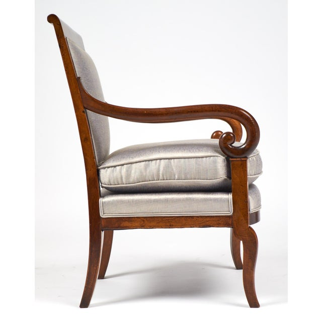 19th Century French Restauration Period Walnut Armchair - Image 5 of 11