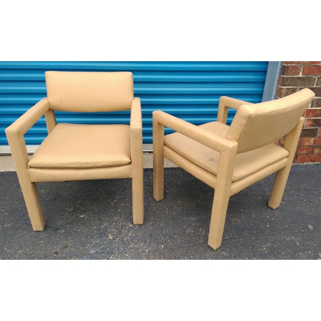 Milo Baughman & Thayer Coggin Parsons Arm Chairs - A Pair - Image 9 of 10