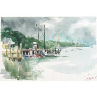 Coastal Landscape Watercolor