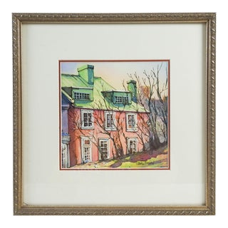 The Pink House Watercolor