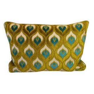 Velvet Blue-Green Pillow