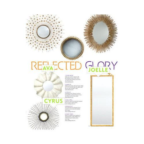 Image of White Ava Mirror by Made Goods, Clamshell Resin