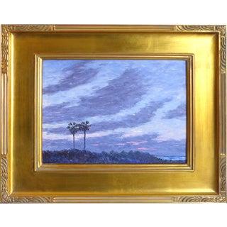 David Eugene Henry Palm Trees at Dusk Painting