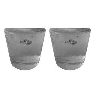 Blenko Glass Bookends - Pair