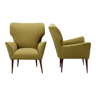 Pair Mid Century Italian Arm Chairs