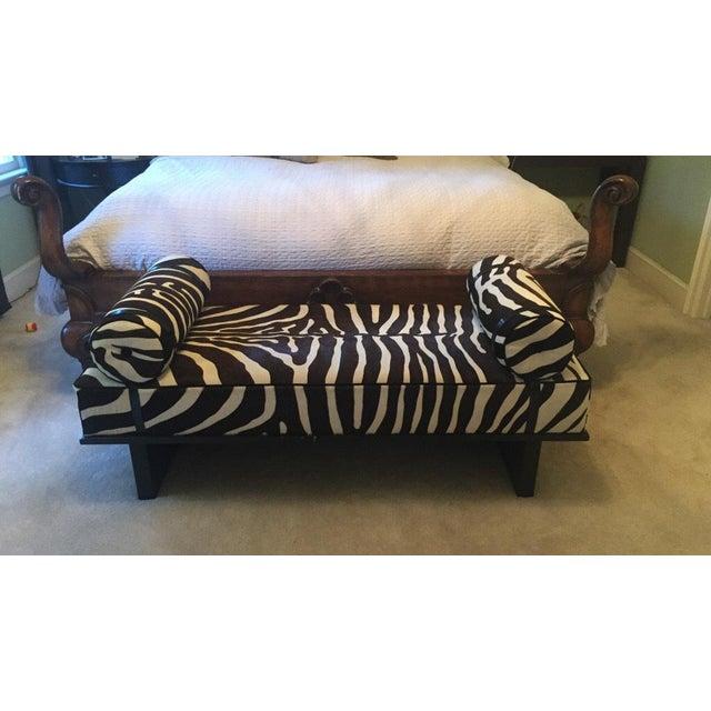 Edelman Leather Zebra Printed Bench - Image 2 of 5