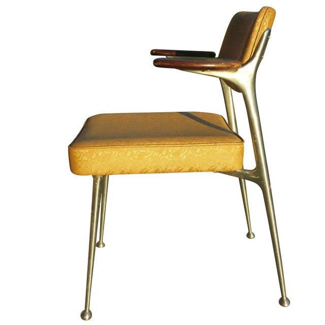 Image of Aluminum Gazelle Armchairs- Set of 4