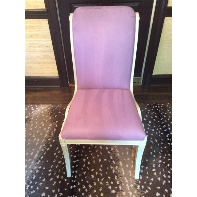 Purple Ultra Suede Chairs - Set of 6 - Image 2 of 6