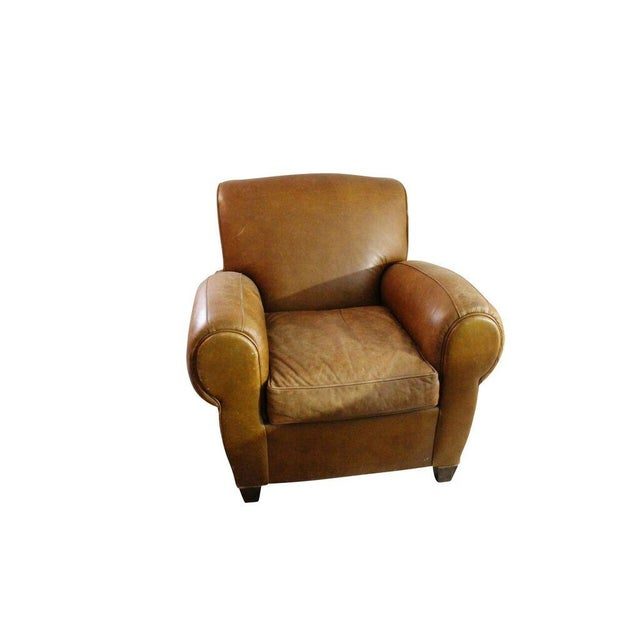 Camel Leather Club Chair - Image 2 of 3