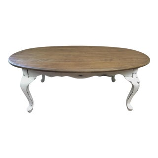 Queen Anne Style Oval Coffee Table