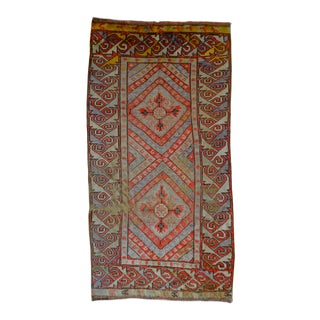 "Vintage Turkish Oushak Rug - 4'10"" X 9'7"""