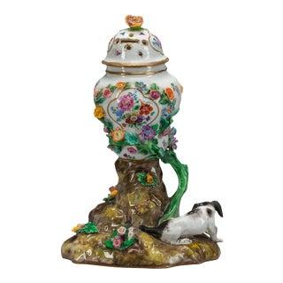 18th Century German Meissen Floral Porcelain Potpourri