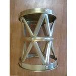 Image of Mid Century Brass X Stool