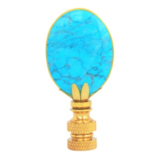 Turquoise Oval Lamp Finial