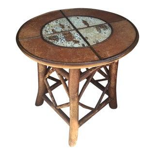 Western Rustic Birch & Log Cabin Pub Table