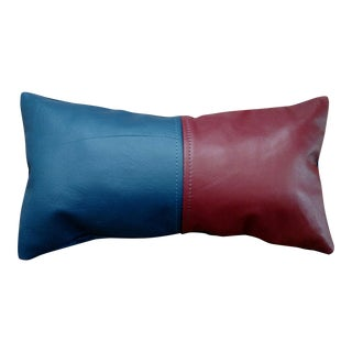 Leather Accent Pillow