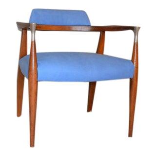 Kofod Larsen Suede Upholstered Armchair