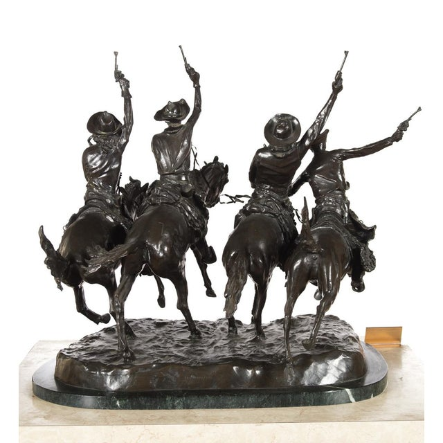 """F. Remington """"Coming Through the Rye"""" Bronze Sculpture - Image 10 of 11"""