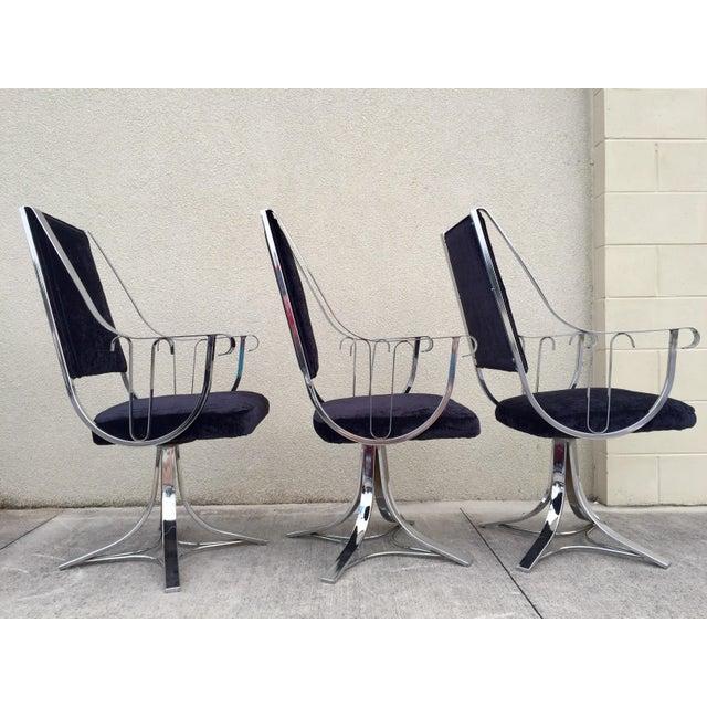 Mid-Century Chrome Swivel Chairs- Set of 6 - Image 7 of 11