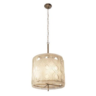 20th Century Molded Crystal Pendant Light