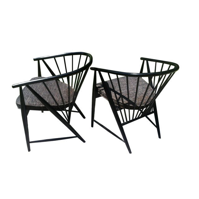 """Sonna Rosen """"Sun Feather"""" Chairs - A Pair - Image 3 of 7"""