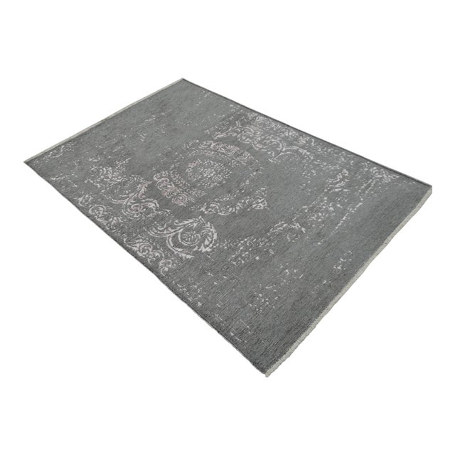 Gray Overdyed Turkish Rug - 3′11″ X 5′11″ - Image 1 of 9