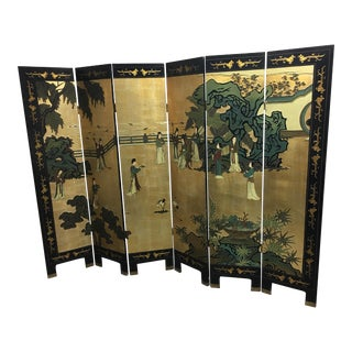 Six Panel Chinese Screen