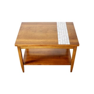 Lane Mid-Century Tile & Wood End Table