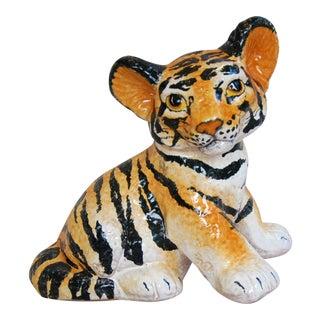 1950s Vintage Mid-Century Italian Terracotta Tiger