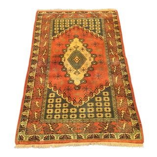 "Vintage Turkish Anatolian Area Rug - 2'8"" x 4'5"""