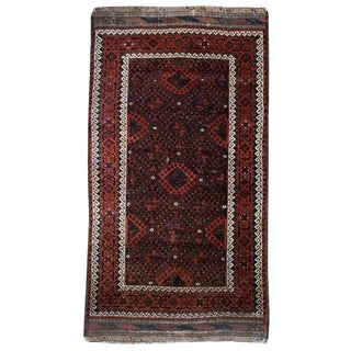 """Early 20th Century Persian Baluch Rug - 3' x 5'7"""""""