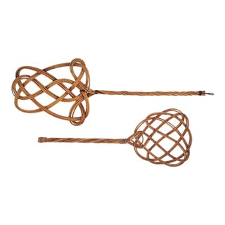 Vintage Wicker Rug Beaters - A Pair