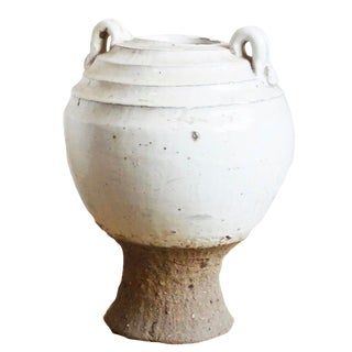 White Ceramic Pottery Jar