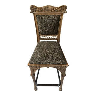 Maitland Smith Cheetah Print Bar Stool