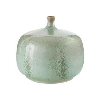 Green Reactive Glaze Round Jar