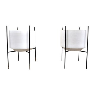 Iron Stands Large Gainey Planters - Pair