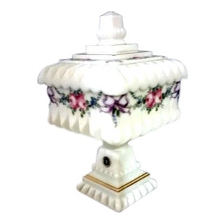 Westmoreland Milk Glass Wedding Bowl With Lid