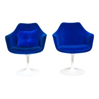 Blue Knoll Tulip Armchairs - A Pair