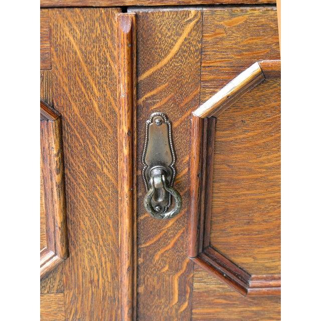 Oak Twist Leg Sideboard - Image 4 of 8