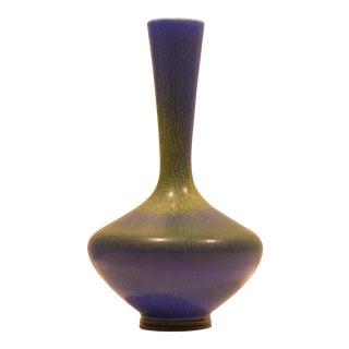 Berndt Friberg Vase with Vivid Blue-Green Glaze