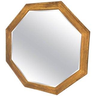 Octagonal Italian Giltwood Mirror