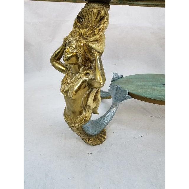 Image of Regency Mermaid Oval Carved Wood & Metal Table
