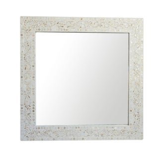 Mother of Pearl Inlaid Square Mirror